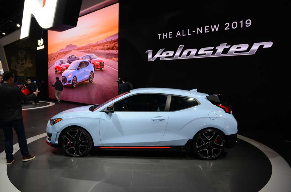 2019 Hyundai Veloster At The 2018 North American International Auto